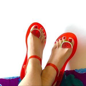 Katy Perry Watermelon Jewel Jelly Thong Sandal